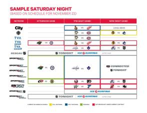 The future of Saturday night games on Canadian TV.